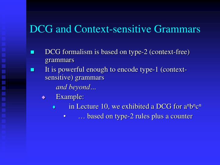 DCG and Context-sensitive Grammars