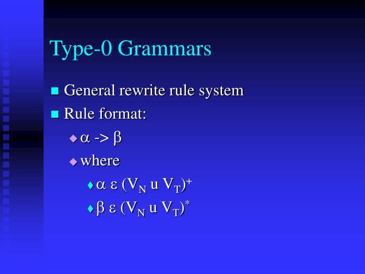 Type-0 Grammars