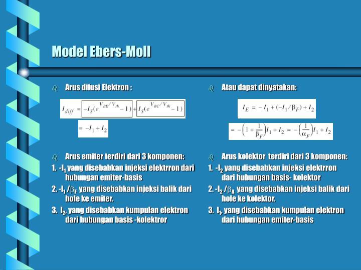 Arus difusi Elektron :