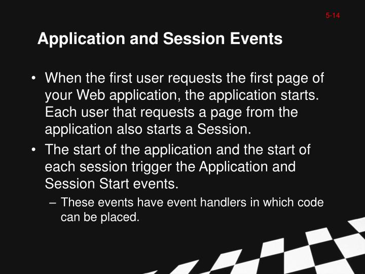 Application and Session Events