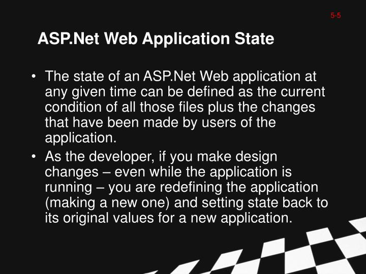 ASP.Net Web Application State
