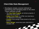 client side state management