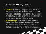 cookies and query strings