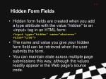 hidden form fields