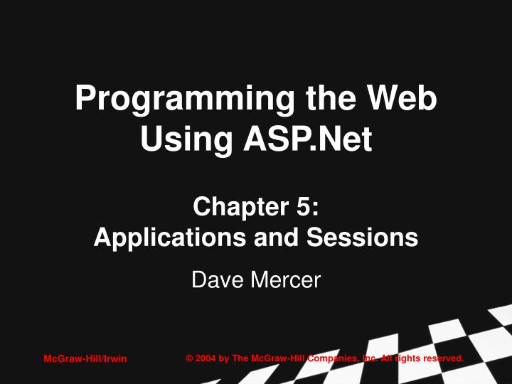 Programming the web using asp net