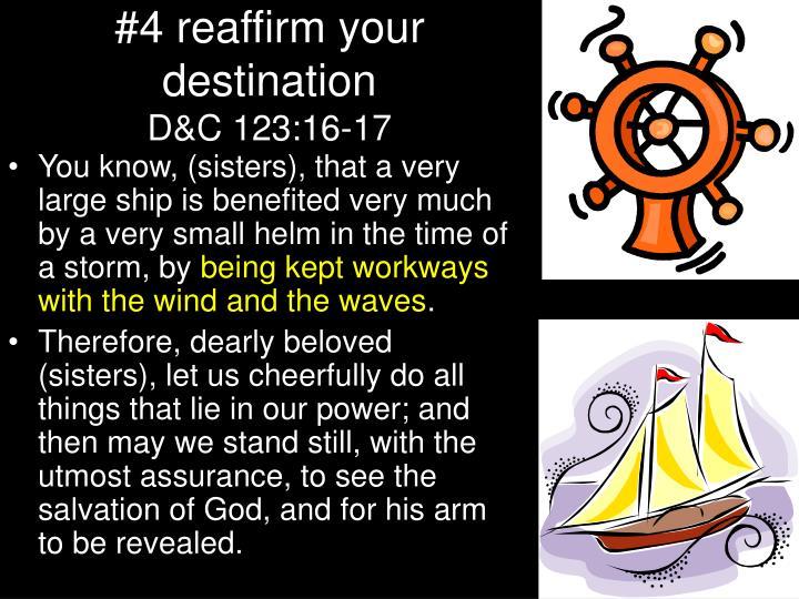 #4 reaffirm your destination