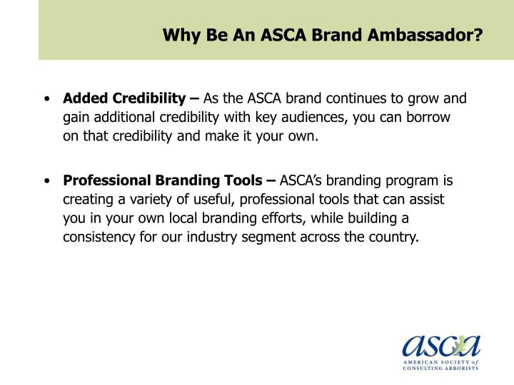 Why Be An ASCA Brand Ambassador?