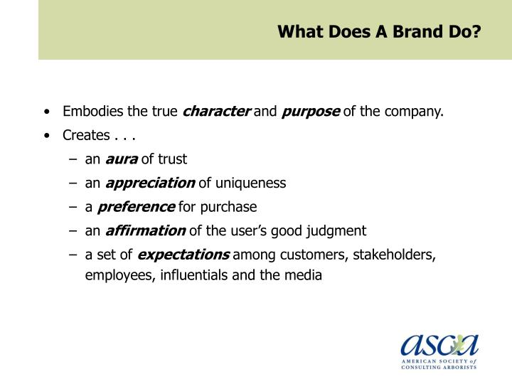 What Does A Brand Do?