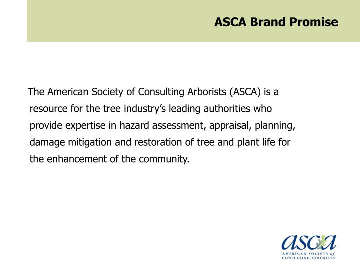 ASCA Brand Promise