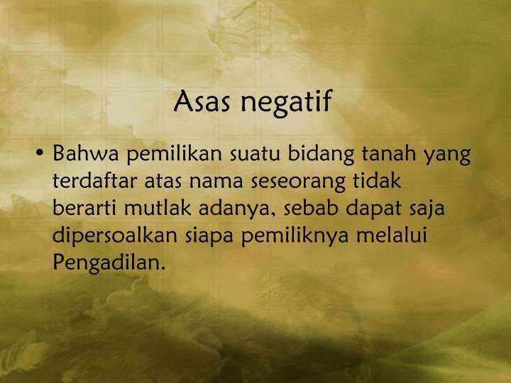 Asas negatif