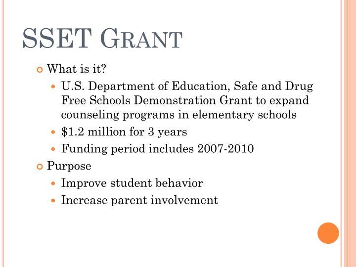 SSET Grant