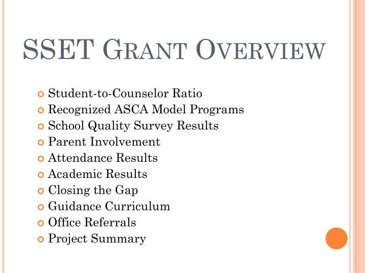 SSET Grant Overview