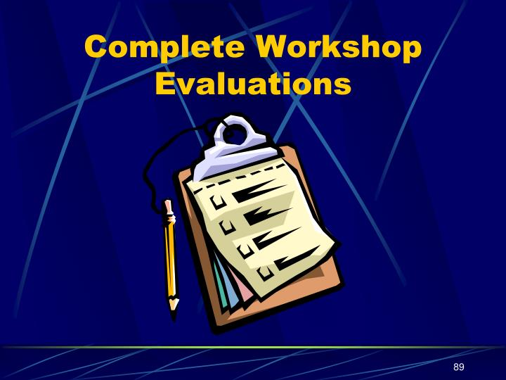 Complete Workshop Evaluations