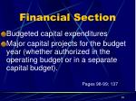 financial section8