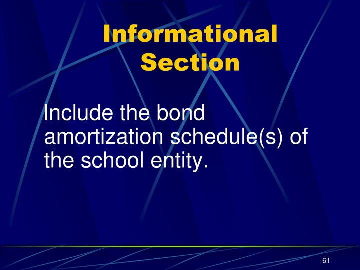 Informational Section