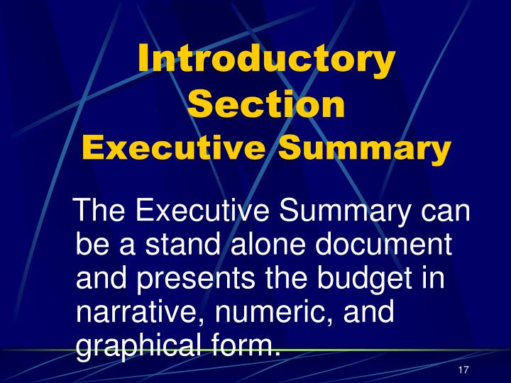 Introductory Section