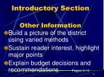 introductory section other information