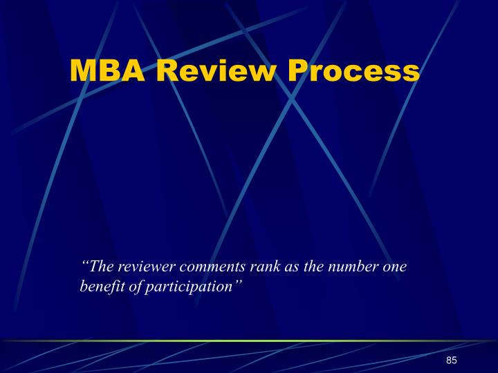 MBA Review Process