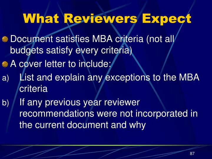 What Reviewers Expect