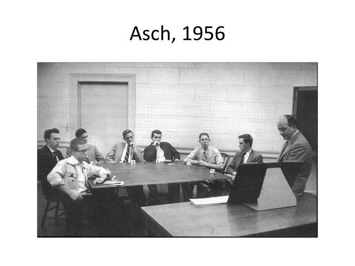 Asch, 1956