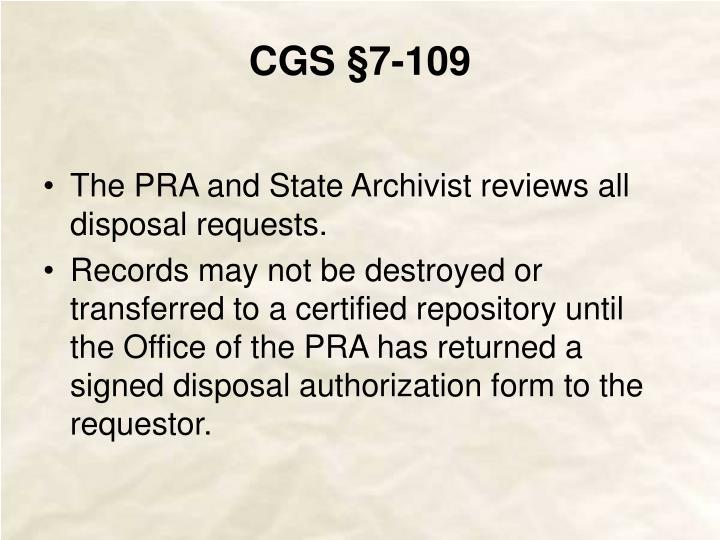 CGS §7-109