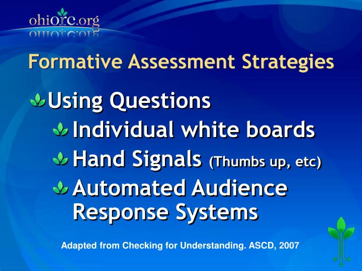 Formative Assessment Strategies
