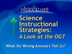 science instructional strategies a look at the ogt