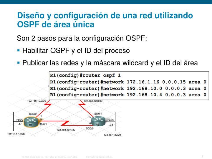 Diseño y configuración de una red utilizando OSPF de área única