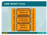 lms webct vista