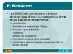 p webquest