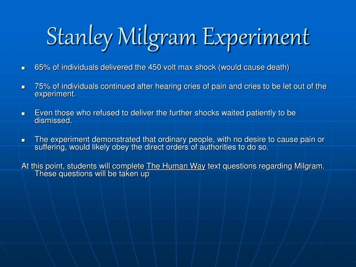 essay on stanley milgram Published: mon, 5 dec 2016 stanley milgram has conducted several studies in the 1960s and 1970s in which he tested the obedience of people his results created controversy among people at the time, but the question is still open.