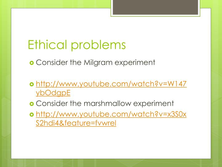 Ethical problems