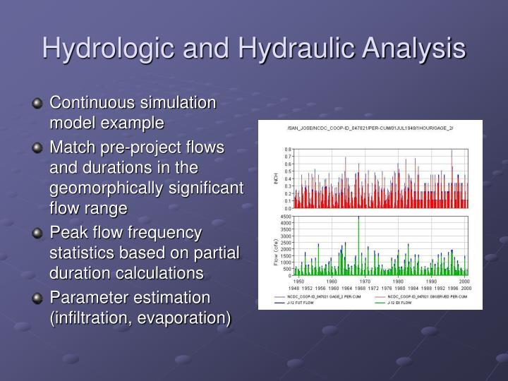 Hydrologic and Hydraulic Analysis