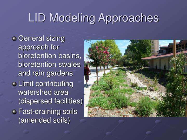 LID Modeling Approaches
