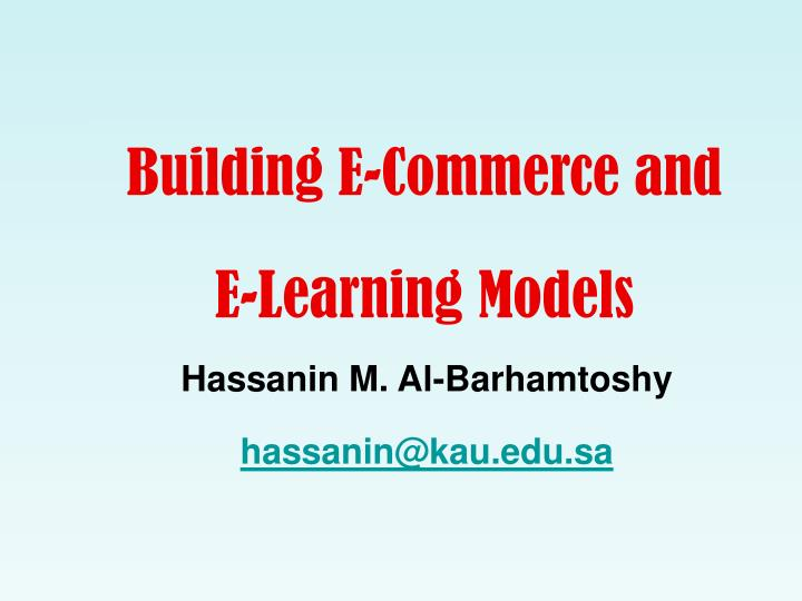 Building E-Commerce and
