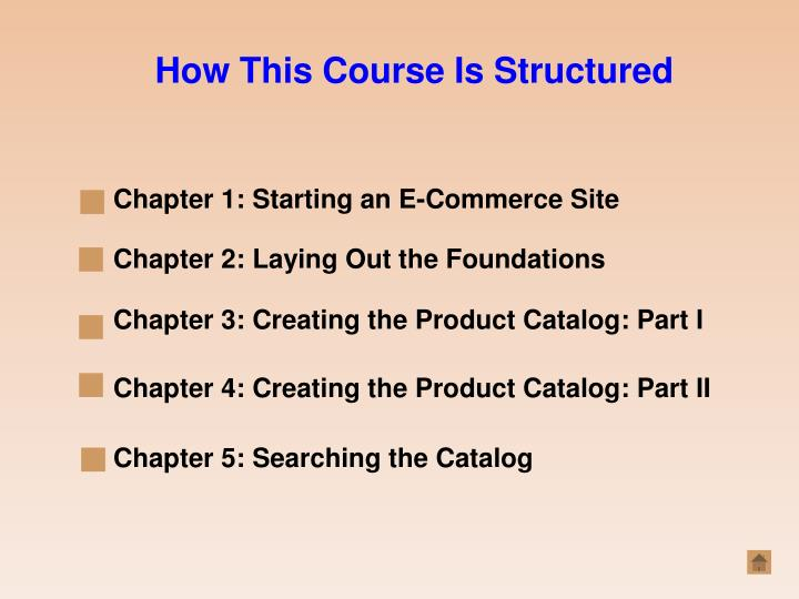 How This Course Is Structured