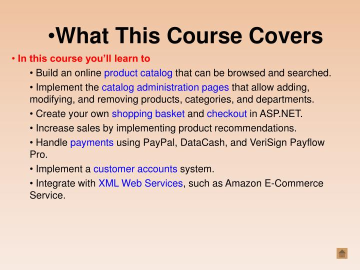 What This Course Covers