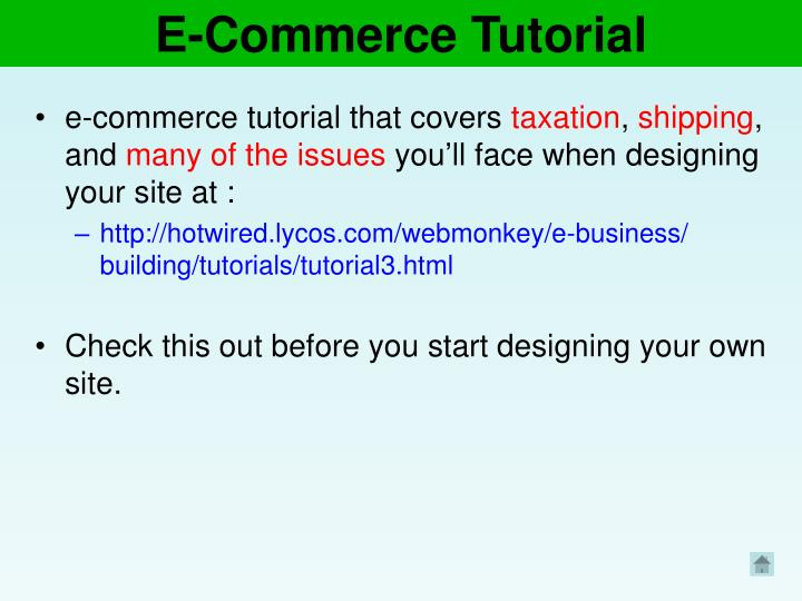 E-Commerce Tutorial