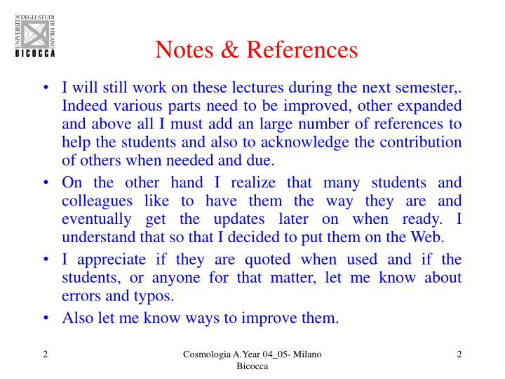 Notes & References