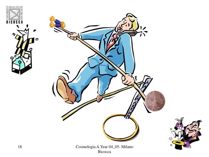 Cosmologia A.Year 04_05- Milano Bicocca