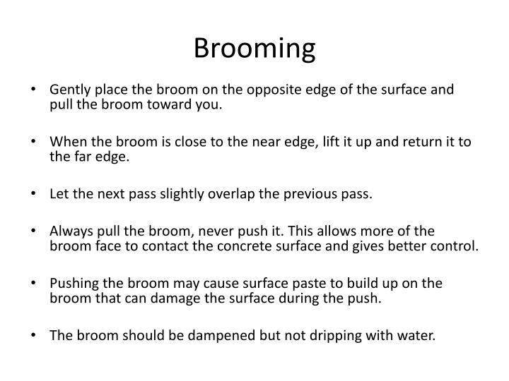 Brooming