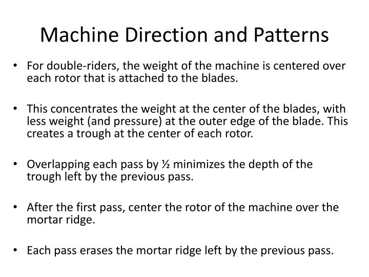Machine Direction and Patterns