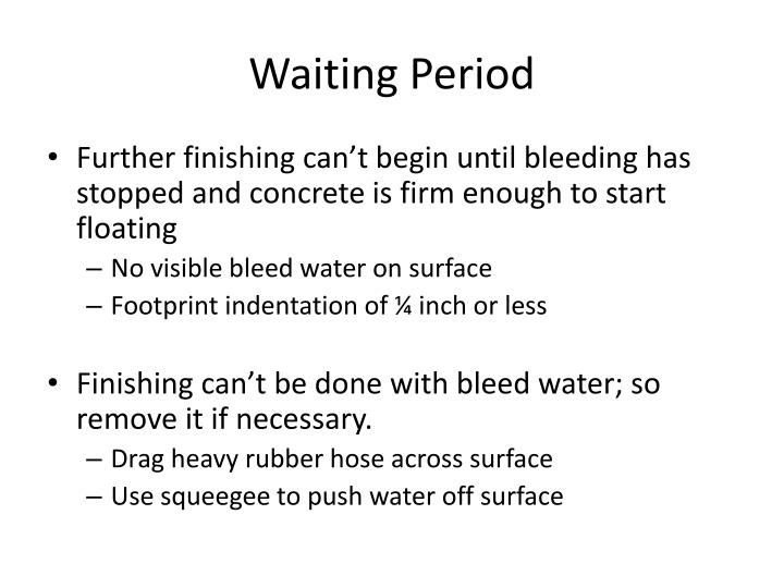 Waiting Period
