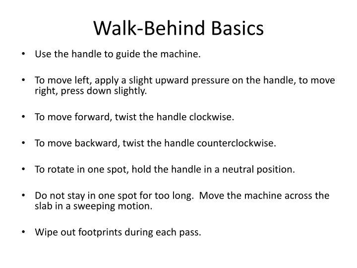 Walk-Behind Basics