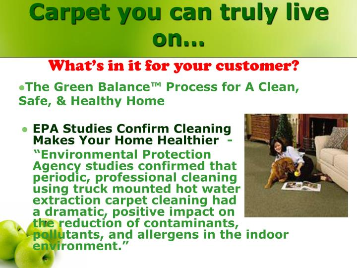 Carpet you can truly live on…