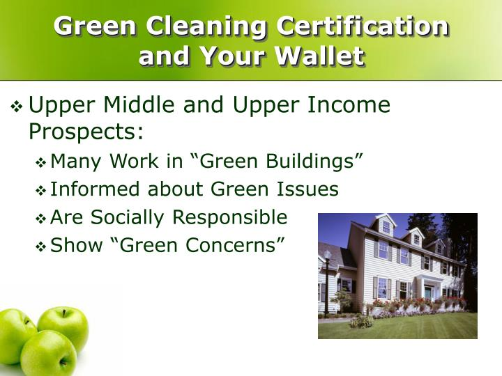 Green Cleaning Certification and Your Wallet