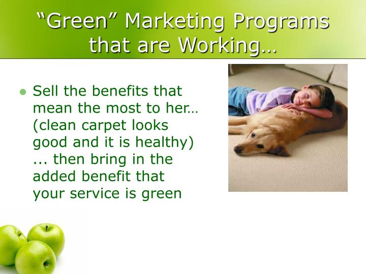 """Green"" Marketing Programs that are Working…"