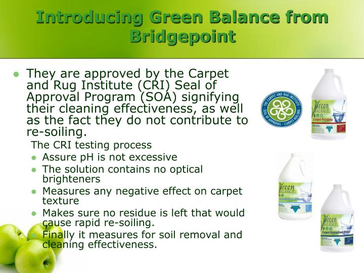 Introducing Green Balance from Bridgepoint
