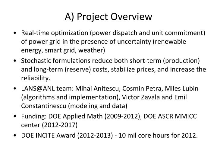 A) Project Overview