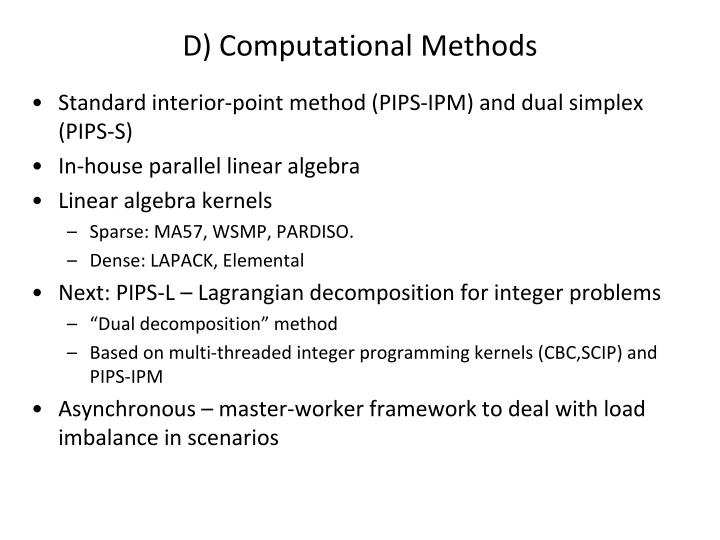 D) Computational Methods